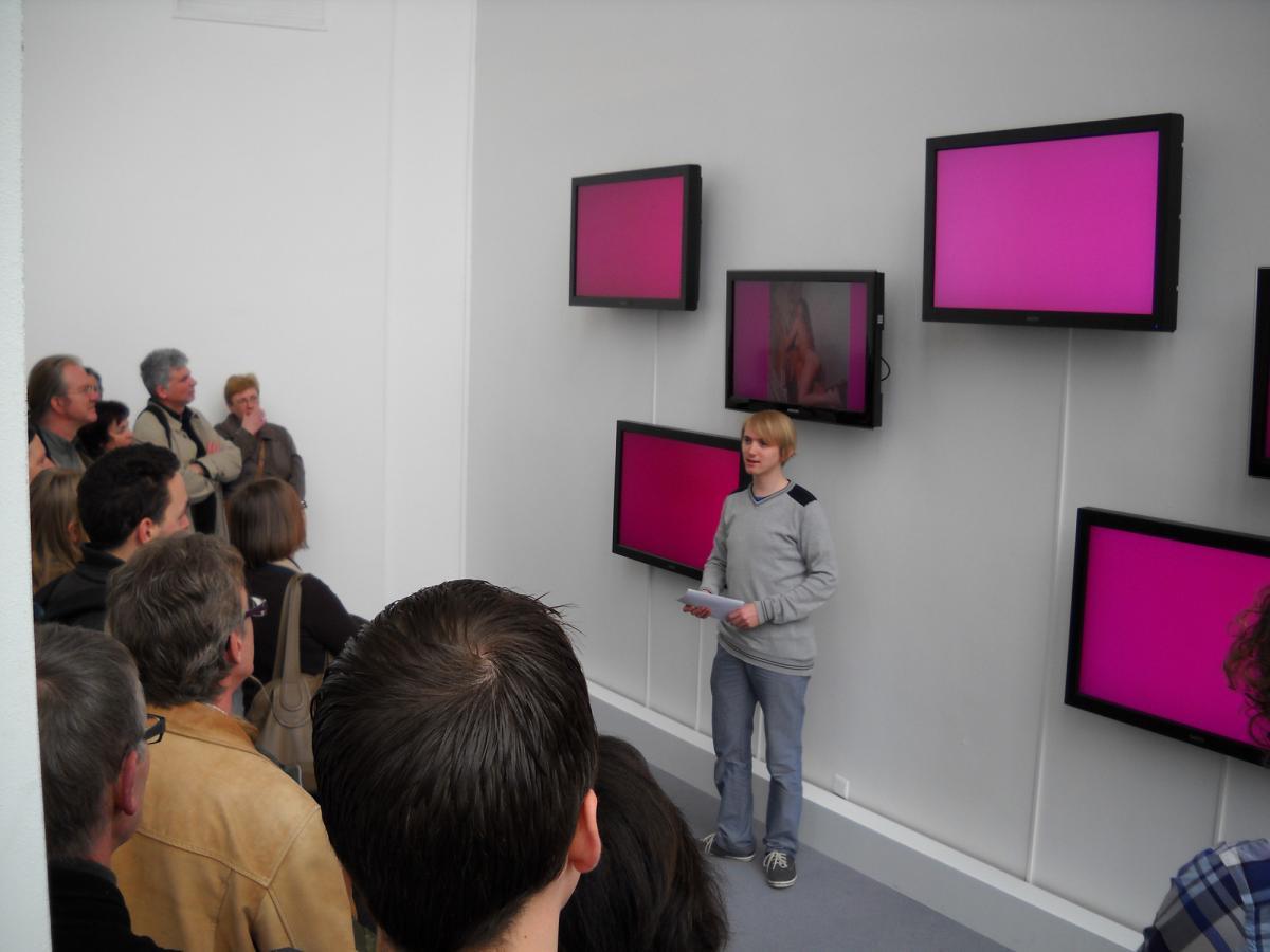 voyeur - zes schermen met afwisdselende prenten