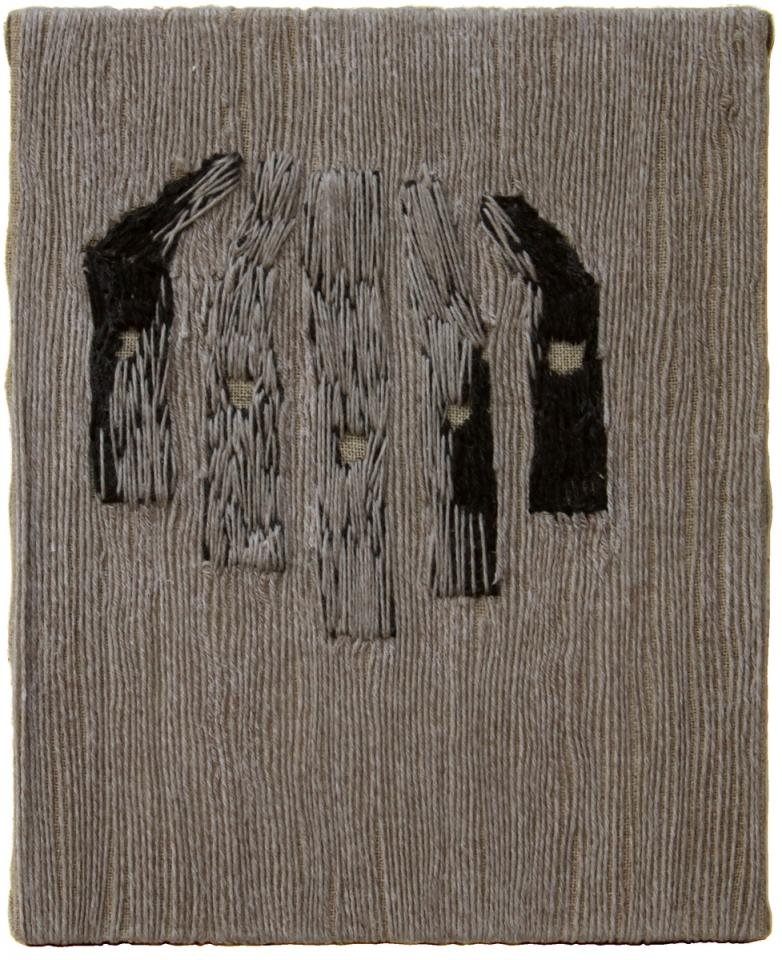 Eyes, Wool on canvas, 2006