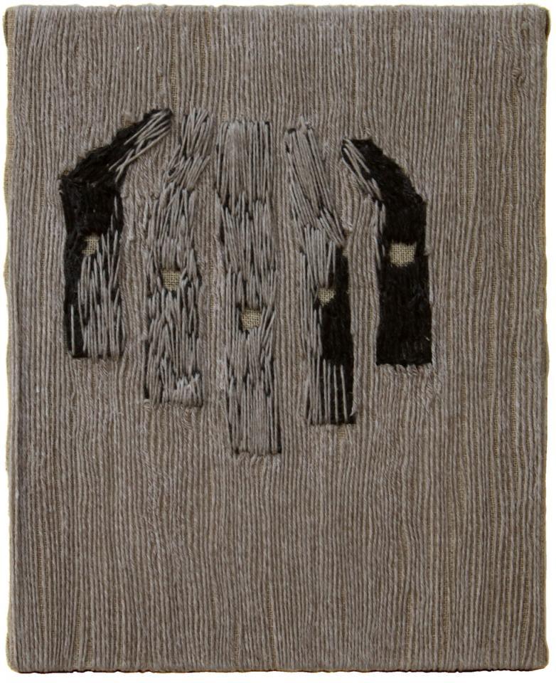 Eyes, Wool on canvas, 2006