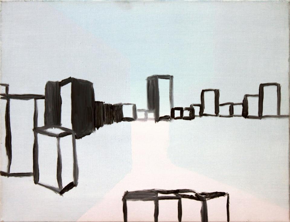 Sandbox, Oil on canvas, 2004