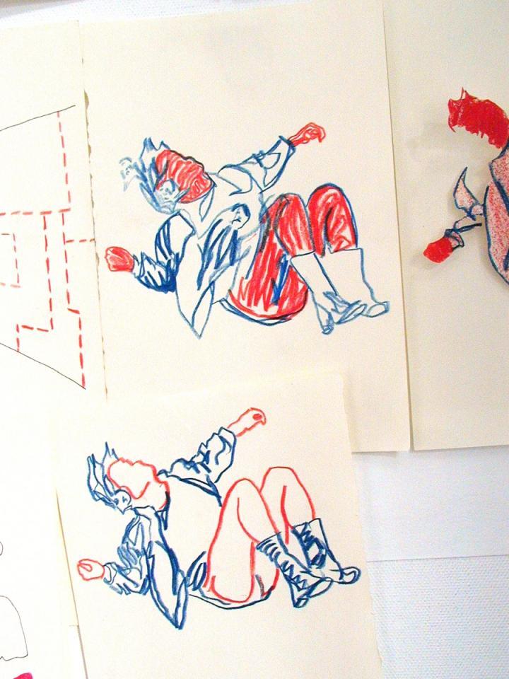 Falling, Drawing/photograph, 2006