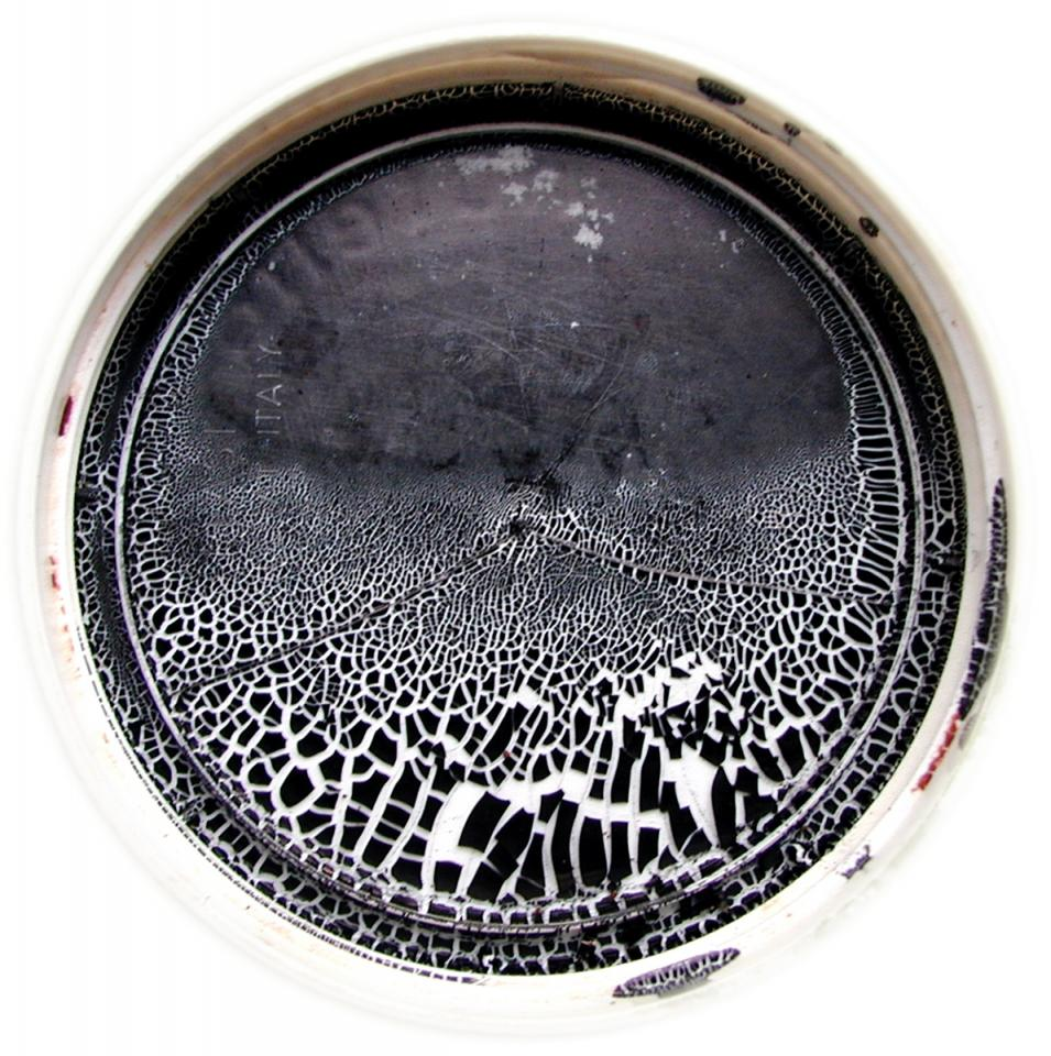 Landscape in a lid, ink in a lid, 2006