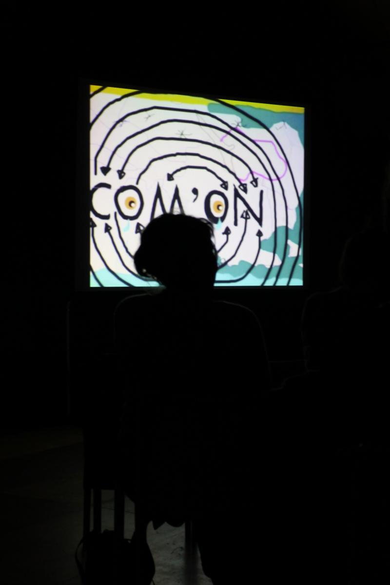video showing our drawpad event with the other .COM'ON artists