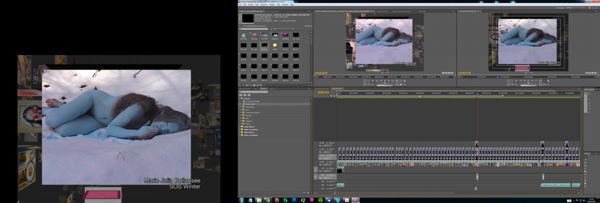 Screenshot montage film, Netwerk der lusten
