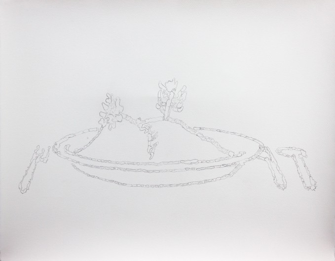 Landscape in a plate - pencil on paper - 760mm x 560mm