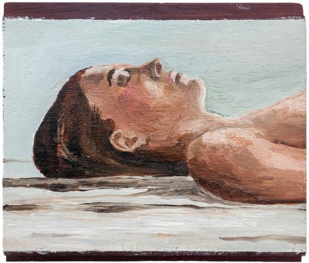 Selfportrait, Ibe - Oil paint on wood, 2017
