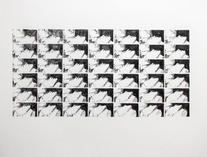 Selfportrait, Ibe - graphite pencil on paper, 43 x 55 cm, 2017