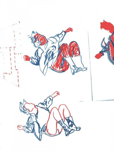 Falling, vector image, Lambda print, Diasec finish