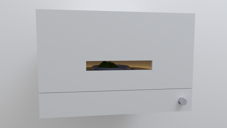 Landscape in a plate - diorama (wall mounted) concept sketch - 3D render