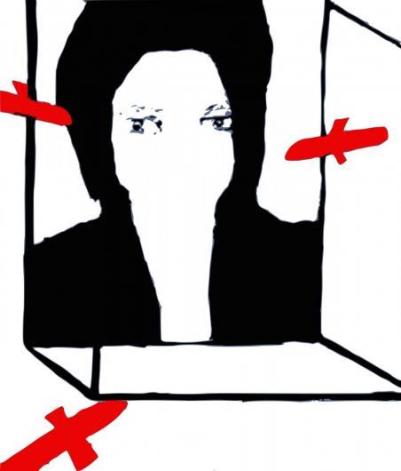 Terror, vector image, Lambda print, Diasec finish