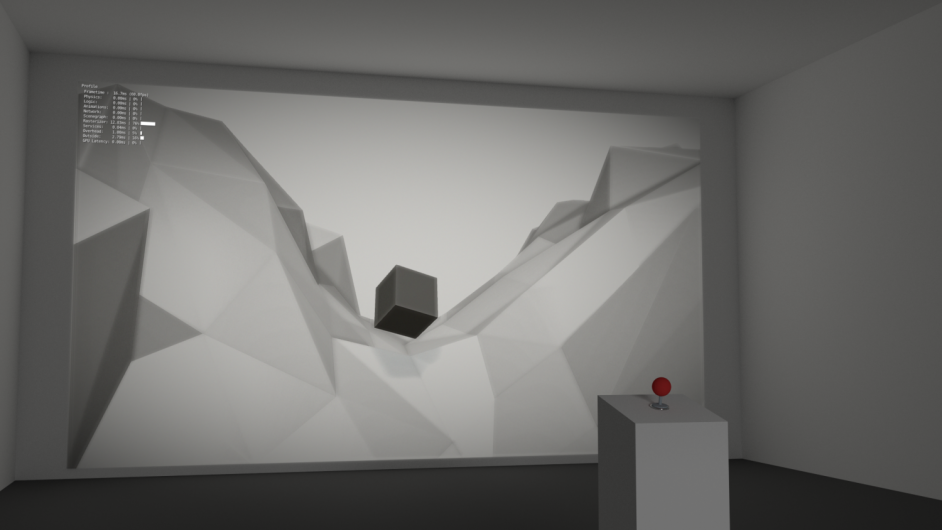 """""""The cube"""" interactive installation - concept render"""