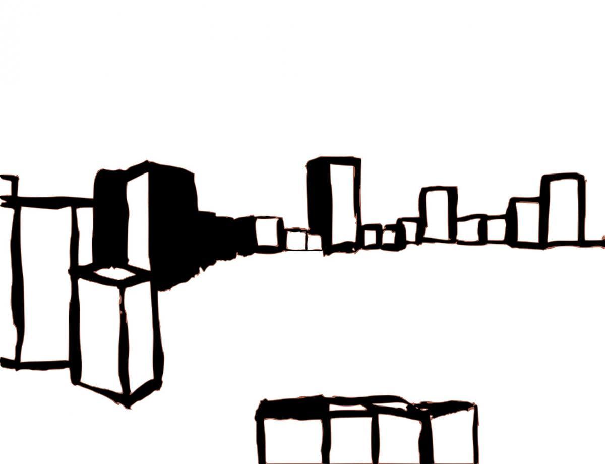 Zandbak, vector image, Lambda print, Diasec finish